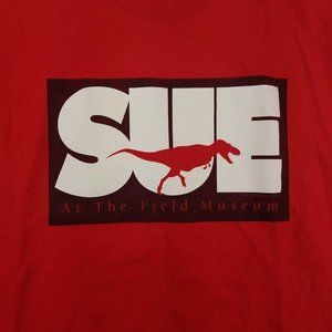Hanes Shirts - VTG 90s SUE The T Rex Dinosaur Chicago Tee Shirt